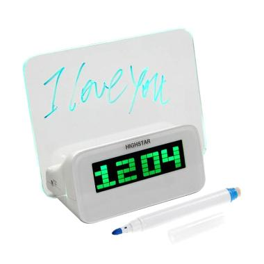 Yaahowu Digital Clock with LED Memo Board, Alarm dan Temperatur Suhu