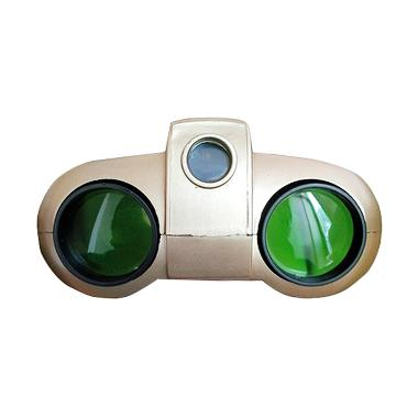 Tokuniku Night Scope Binoculars with Pop-Up Light Golden Teropong [4 x 30 mm