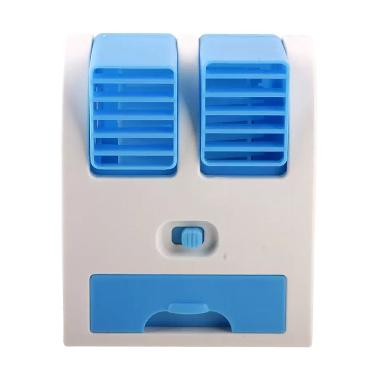 AC MIni Fan Portable with Parfum - Biru