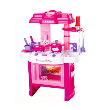 Jual tomindo kitchen set 008 26 pink mainan anak online for Kitchen set 008 26