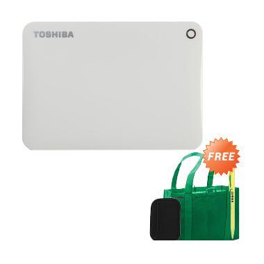 Toshiba Canvio Connect II Harddisk  ... o Green Bag + Pouch + Pen
