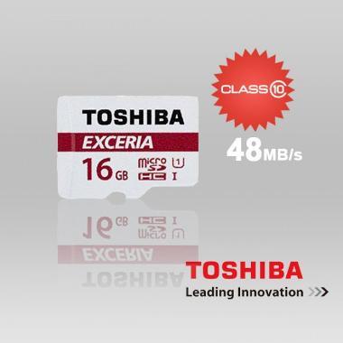 Toshiba MicroSD Exceria Class 10 Me ... /48 Mbps] #Garansi Resmi#