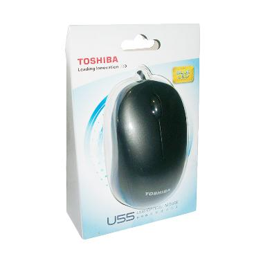 harga Toshiba - U55 USB Optical Mouse [Blue LED Technology/1,600 dpi] Black Blibli.com