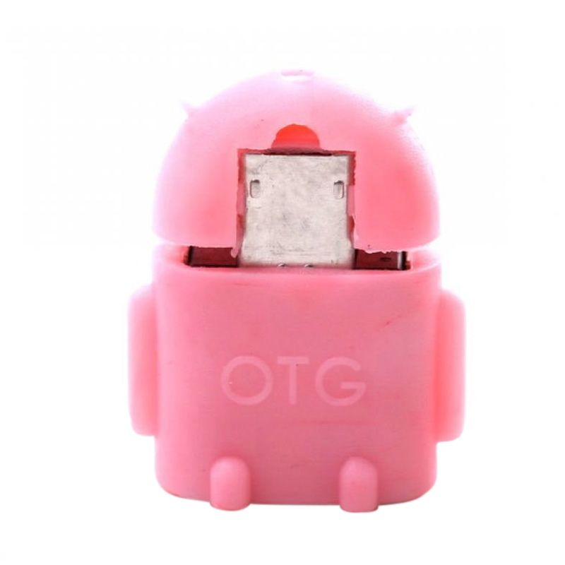 OTG Android Merah Muda USB Adapter  ...