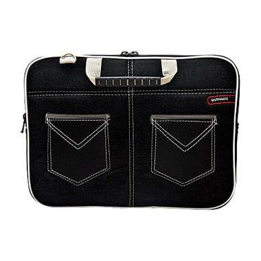 Ultimate Softcase Double jeans Back Black Tas Laptop [12 inch]