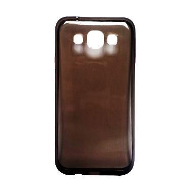 Ultra Thin Transparant Softcase Casing for Lumia 640XL - Hitam