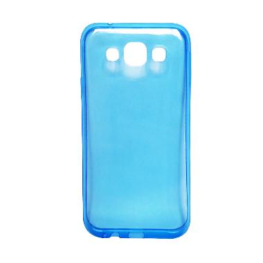 Ultra Thin Transparant Softcase Casing for Oppo Joy 3 - Biru