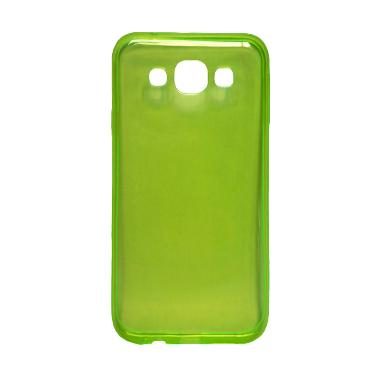 Ultra Thin Transparant Softcase Casing for Oppo Joy 3 - Hijau