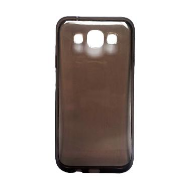 Ultra Thin Transparant Softcase Casing for Oppo Mirror 3 R3001 - Hitam