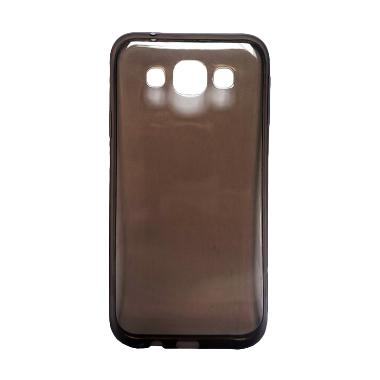 Ultra Thin Transparant Softcase Casing for Oppo Neo 7 - Hitam