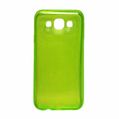 Ultra Thin Transparant Softcase Casing for Xiaomi Mi4i or Mi4c - Hijau