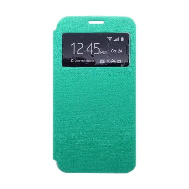 Ume Enigma Hijau Flip Cover Casing for iPhone 6 Plus