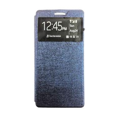 Ume Enigma Navy Flip Cover Casing for Oppo Joy 3 A11T