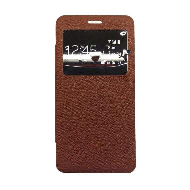 Ume Enigma Brown Flip Cover Casing for Oppo Joy 3 A11T