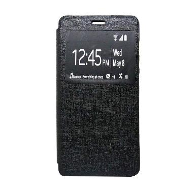 Ume Enigma Hitam Flip Cover Casing for Oppo Joy 3 A11T