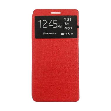 Ume Enigma Merah Flip Cover Casing for Oppo Joy 3 A11T