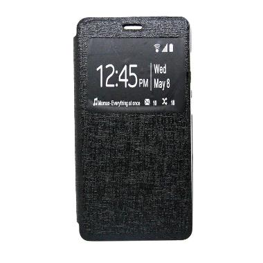 Ume Enigma Flip Cover Hitam Casing for Samsung Galaxy Young Duos