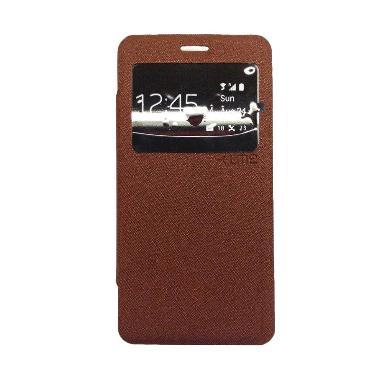 Ume Enigma Coklat Flip Cover Casing for Lenovo A2010