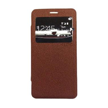 Ume Enigma Coklat Flip Cover Casing for Samsung Galaxy Z3