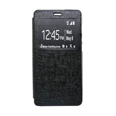 Ume Enigma Flip Cover Casing for Samsung Galaxy Alpha - Hitam