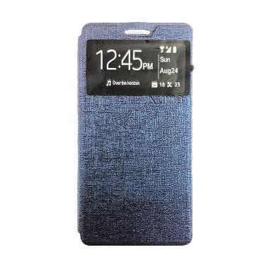 Ume Enigma Flip Cover Navy Casing for Advan S5E+