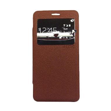 Ume Enigma Flipcover Casing for Asus Zenfone 4C / 4S - Cokelat