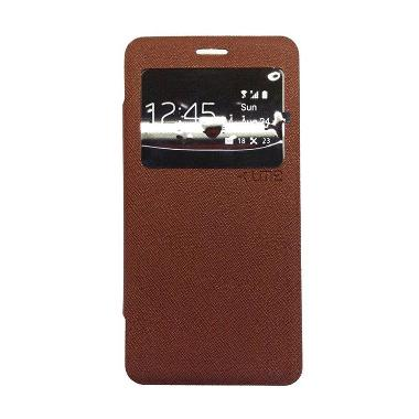 Ume Enigma Flipcover Casing for Samsung Galaxy Young Duos - Cokelat