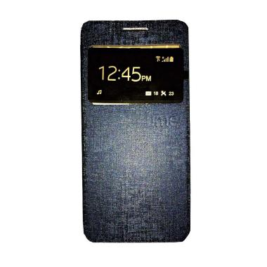 harga Ume Flip Cover Casing for Huawei Ascend Y511 Flipshell / Leather Case / Sarung HP / Sarung Handphone / View - Navy Blibli.com