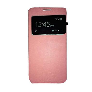 Ume Flip Cover Casing for Huawei As ... g Handphone / View - Pink