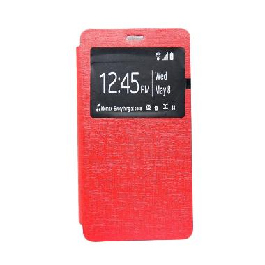 Ume Flip Cover Casing for Xiaomi Redmi Note - Merah