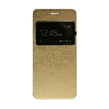 Ume Flip Cover Casing for Huawei Y5 ... g Handphone / View - Emas