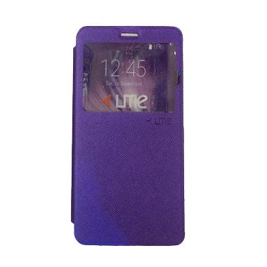 UME ZTE A711 Flip Cover / Flipshell ... g Handphone / View - Ungu