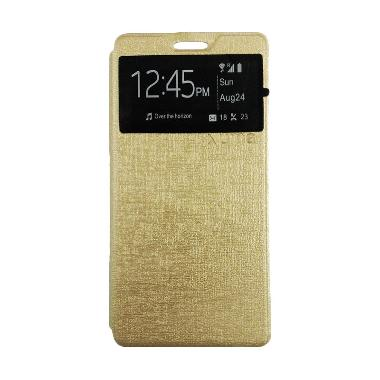 Jual Ume Lather Gold Flipcover Casing For Xiaomi Redmi Mi5