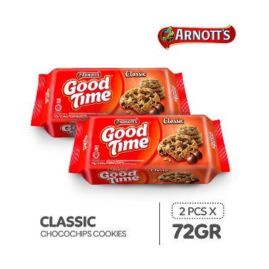 harga Good Time Classic Chocochips Cookies [72 g/ 2 pcs] Blibli.com