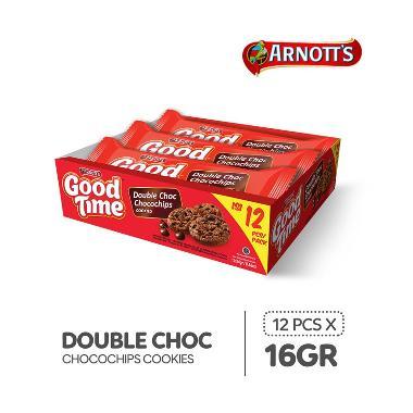 harga Good Time Double Choc Chocochips Cookies [16 g/12 pcs] Blibli.com