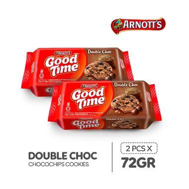 harga Good Time Double Choc Chocochips Cookies [72 g/ 2 pcs] Blibli.com