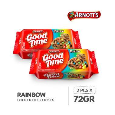 harga Good Time Rainbow Chocochips Cookies [72 g/ 2 pcs] Blibli.com