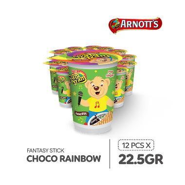 harga Nyam-Nyam Fantasy Stick Choco Rainbow [22.5 g/12 pcs] Blibli.com