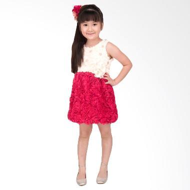 Unico Bunga Fuschia Dress Anak