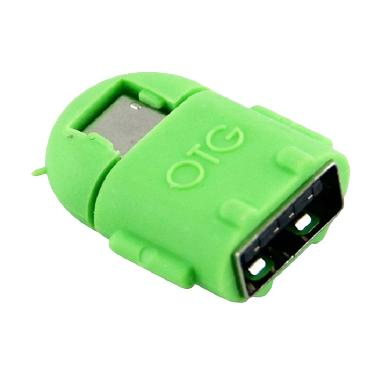 OTG Android Robot Green USB Adapter