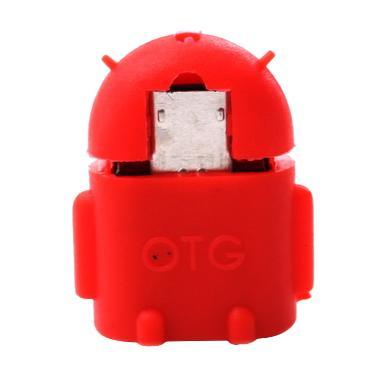 OTG Android Robot Red USB Adapter
