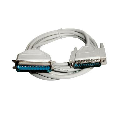 Universal LPT 25 Pin Male Female Kabel Printer Paralel – Putih [3 m]