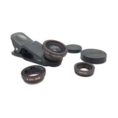 SP Super Wide 3 in 1 Hitam Clip Lens Fish Eye