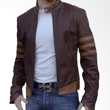 Jaket Kulit Pria X-Man Bikers B-Ric ...  Garut Size M L XL Coklat