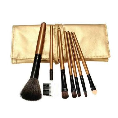 Vienna Linz Cosmetic Professional Makeup Brushes Set - Gold [7 pcs]