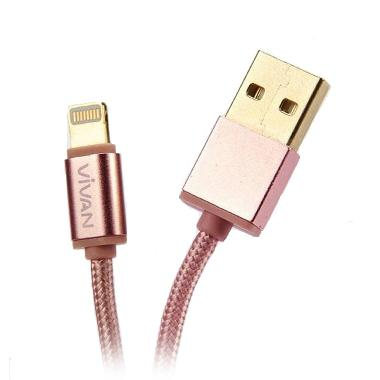 Vivan Lightning GLD100 Rose Gold Cable Sync & Charge [1 m]