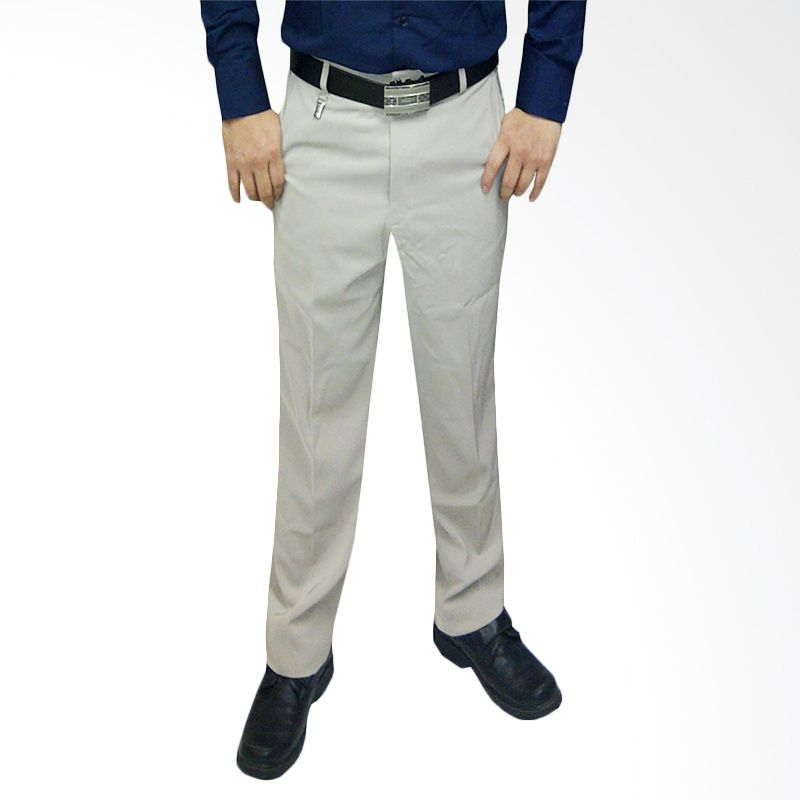 VM Formal Slim Fit Cream Celana Pan ...