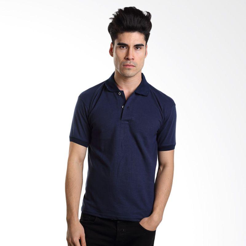 VM Polos Navy Blue Kaos Polo Pria   ...