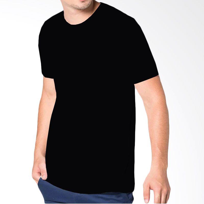 VM Polos O Neck Simple Black Kaos P ...