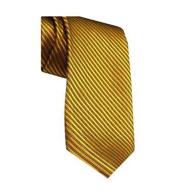 VM Fashion Slim Polos Strip Gold Dasi [3 Inch]
